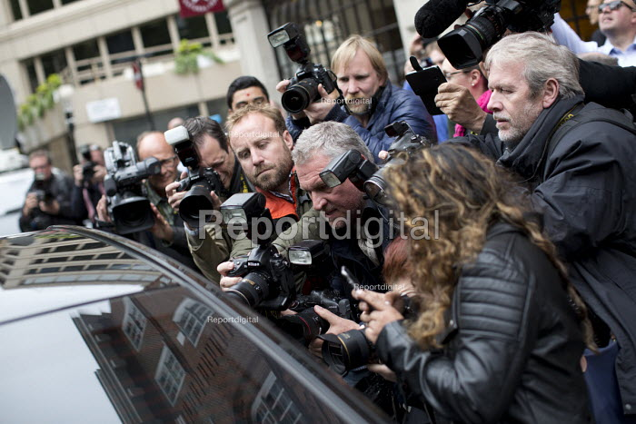Ed Miliband is photographed as he leaves to make his resignation speech after defeat at the General Election. Westminster, London. - Jess Hurd - 2015-05-08