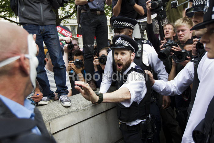 Anti austerity protests on the day of the Queens Speech and opening of Parliament. Westmintser, London. - Jess Hurd - 2015-05-27