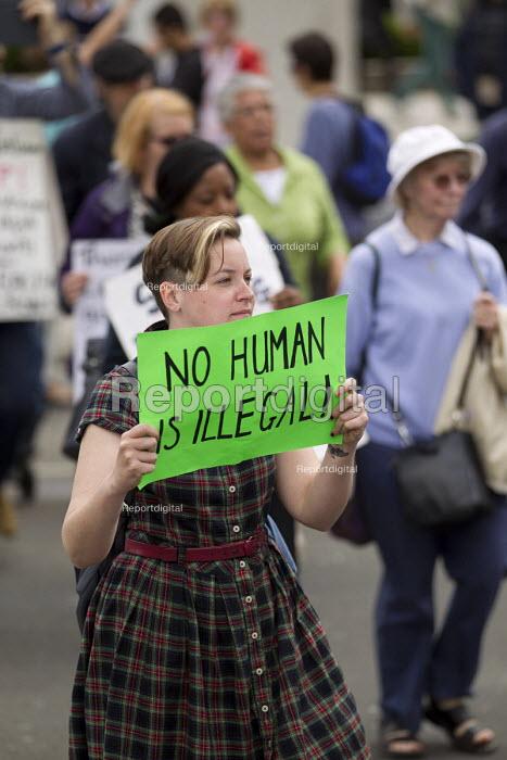 Close Down Detention Centres protest. Parliament, Westminster. - Jess Hurd - 2015-06-15