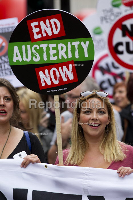 Charlotte Church, Peoples Assembly Against Austerity protest against cuts in anti-austerity march. London. - Jess Hurd - 2015-06-20