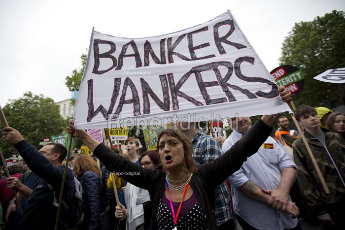 Banker Wankers. Peoples Assembly Against Austerity protest... - Jess Hurd, jj1506112.jpg