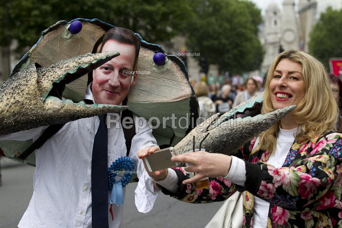 Cameron crab, Peoples Assembly Against Austerity protest... - Jess Hurd, jj1506114.jpg