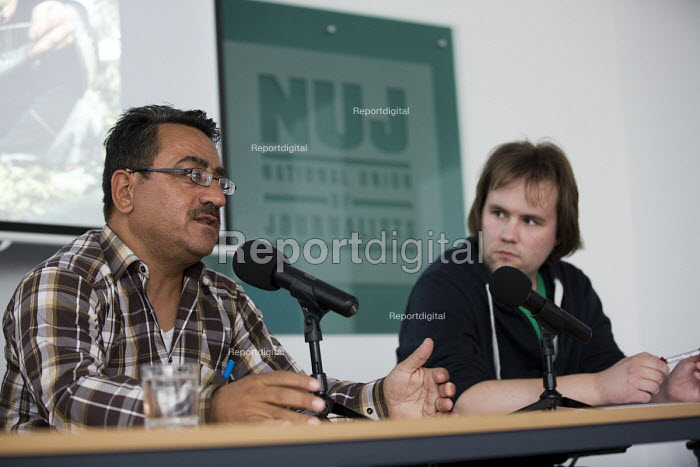 Nablus based Reuters photojournalist Abed Qusini speaks at... - Jess Hurd, jj1506145.jpg