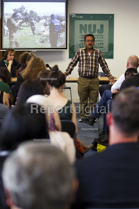 Nablus based Reuters photojournalist Abed Qusini speaks at... - Jess Hurd, jj1506155.jpg