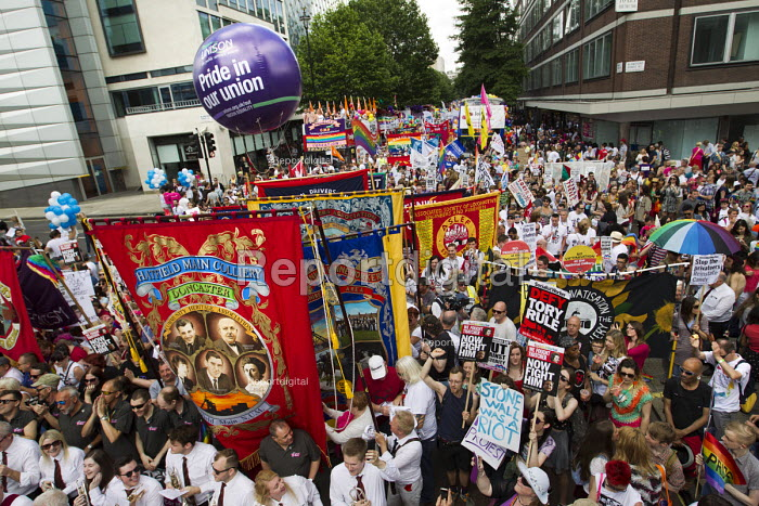 NUM banners Pride in London Parade 2015 - Jess Hurd - 2015-06-27