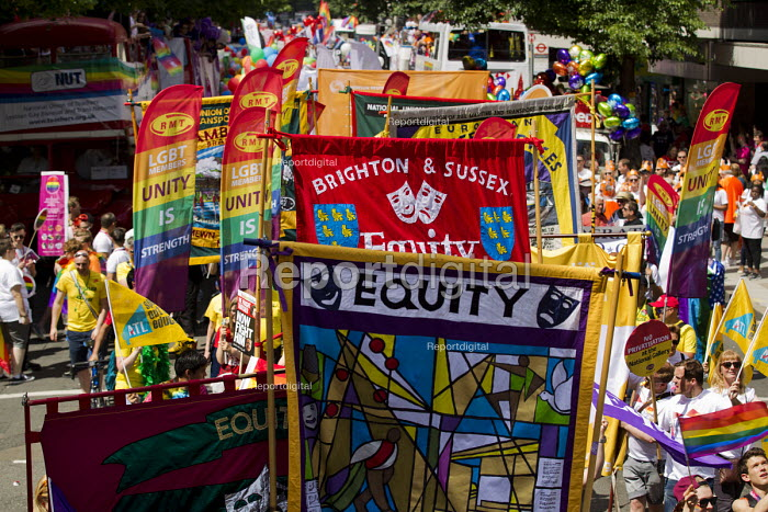 Equity banners Pride in London Parade 2015 - Jess Hurd - 2015-06-27