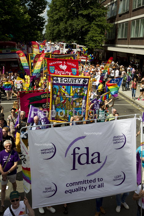Equity and FDA banners Pride in London Parade 2015 - Jess Hurd - 2015-06-27