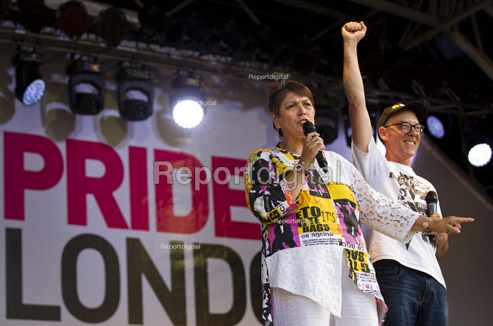 Sian James, Mike Jackson Lesbians and Gays Support The Miners Pride in London Parade 2015 - Jess Hurd - 2015-06-27
