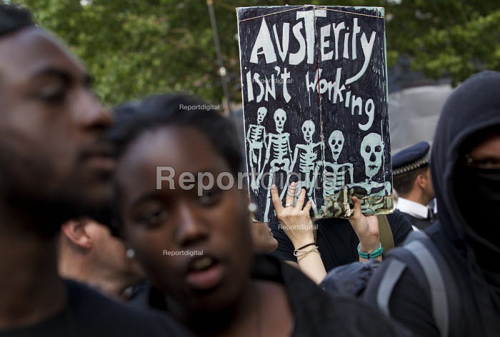 Anti austerity protest on the day of the budget. Organised by The Peoples Assembly. Westminster. London. - Jess Hurd - 2015-07-08
