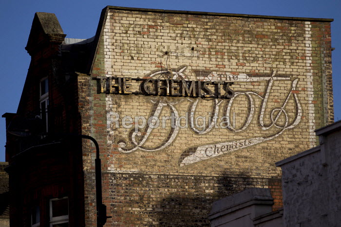 Old Boots The Chemists sign. Camden. London. - Jess Hurd - 2015-07-11