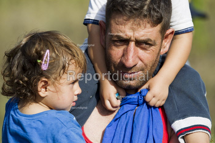 Refugees using the Beremend, Hungarian border crossing. Hungary. - Jess Hurd - 2015-09-19
