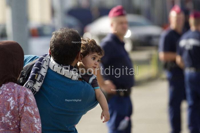 Refugees using the Beremend, Hungarian border crossing. Hungary. - Jess Hurd - 2015-09-19