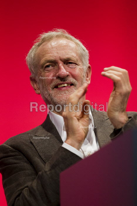 Jeremy Corbyn MP, leader. Labour Party Conference Brighton. - Jess Hurd - 2015-09-27