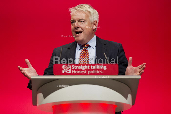 Carwyn Jones MP speaking at Labour Party Conference Brighton. - Jess Hurd - 2015-09-27