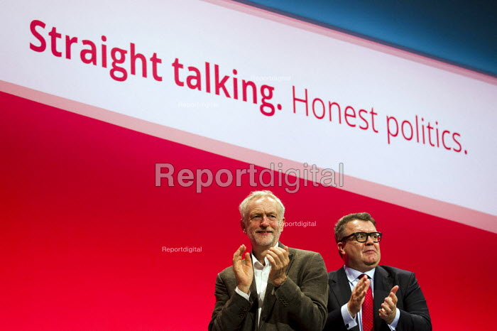 Jeremy Corbyn MP, leader with Tom Watson MP. Labour Party Conference Brighton. - Jess Hurd - 2015-09-27