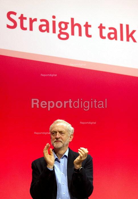 Jeremy Corbyn, leader. Labour Party Conference, Brighton. - Jess Hurd - 2015-09-28