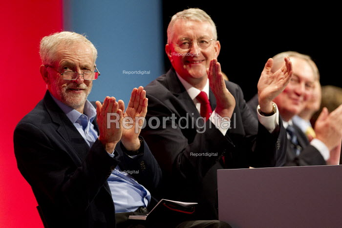 Jeremy Corbyn and Hilary Benn MP. Labour Party Conference, Brighton. - Jess Hurd - 2015-09-28