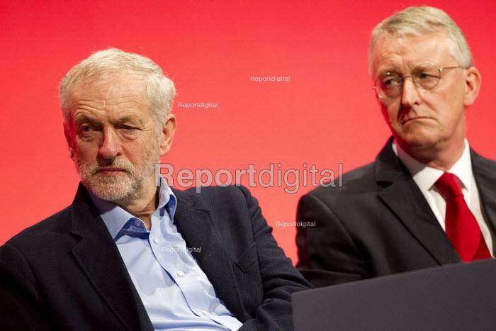 Jeremy Corbyn and Hilary Benn MP. Labour Party Conference, Brighton. - Jess Hurd - 2015-09-28