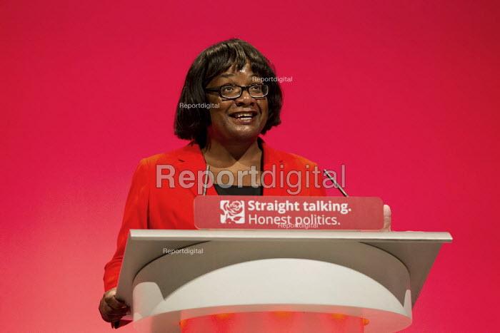 Diane Abbott MP speaking Labour Party Conference, Brighton. - Jess Hurd - 2015-09-28