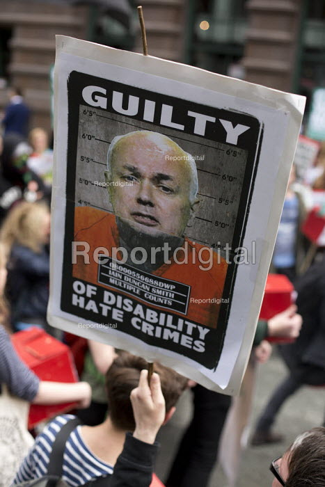 Disability rights protesters outside Conservative Party Conference, Manchester. - Jess Hurd - 2015-10-05