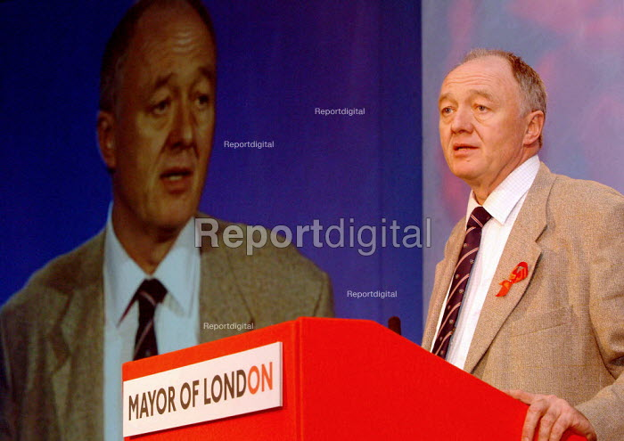 Ken Livingstone, Mayor of London, speaking at The London Conference, QE11 Conference Centre, London. - James Jenkins - 2003-11-29