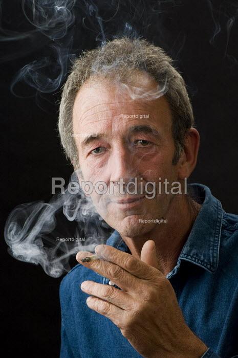 Man smoking a cigarette. - Paul Carter - 2007-09-04