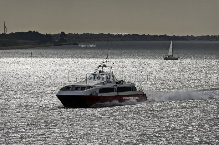 Red Jet 3, Isle of Wight jet ferry. - Paul Carter - 2009-05-03