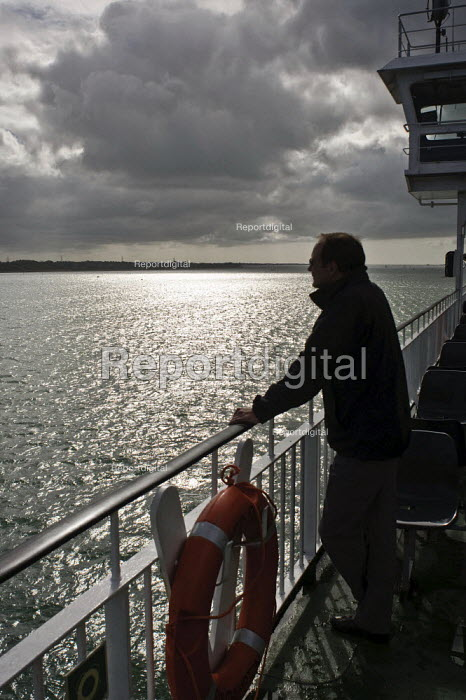 Passenger on deck, Red Funnel Isle of Wight ferry. - Paul Carter - 2009-05-03