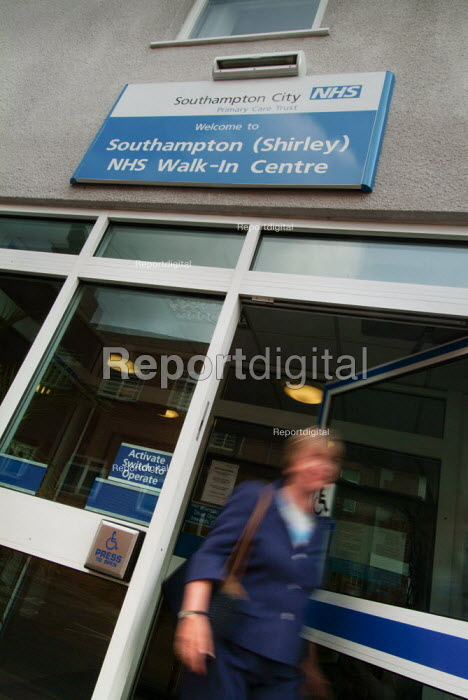 Southampton NHS Walk In Centre, before being closed in 2009 in a local NHS cost cutting exercise - Paul Carter - 2004-10-08