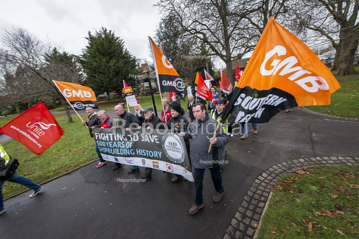 CSEU protest against closure by BAE Systems of Portsmouth shipyard. - Paul Carter - 2013-12-14