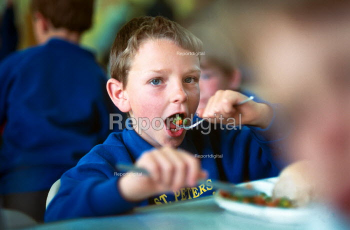School boy eating his midday meal. - Paul Carter - 1997-05-07