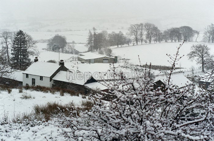 Farm in a snow covered landscape. - Paul Carter - 2000-12-25