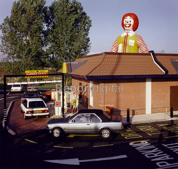 Drive through McDonald's fast food restaurant - Paul Carter - 1994-08-25