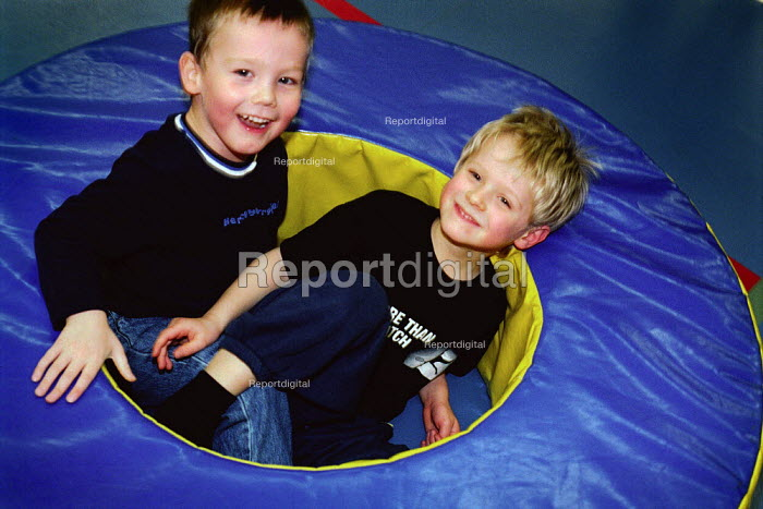 Two friends playing, during a birthday party. - Paul Carter - 2003-02-02