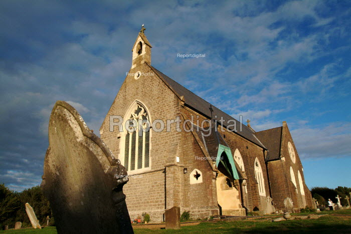 Exterior view of the newly opened arts centre in Eype Church. - Paul Carter - 2003-08-22