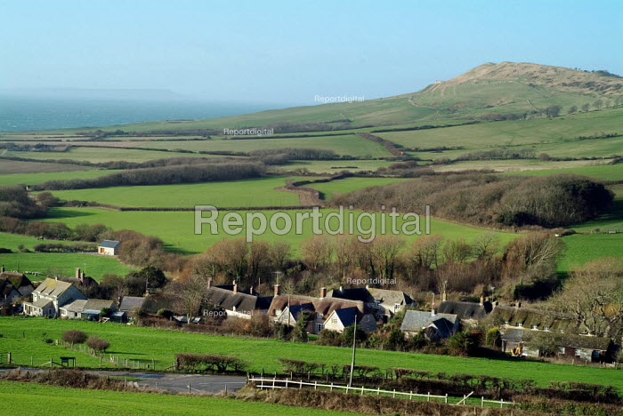 Looking over a small rural community. Dorset. - Paul Carter - 2004-01-09