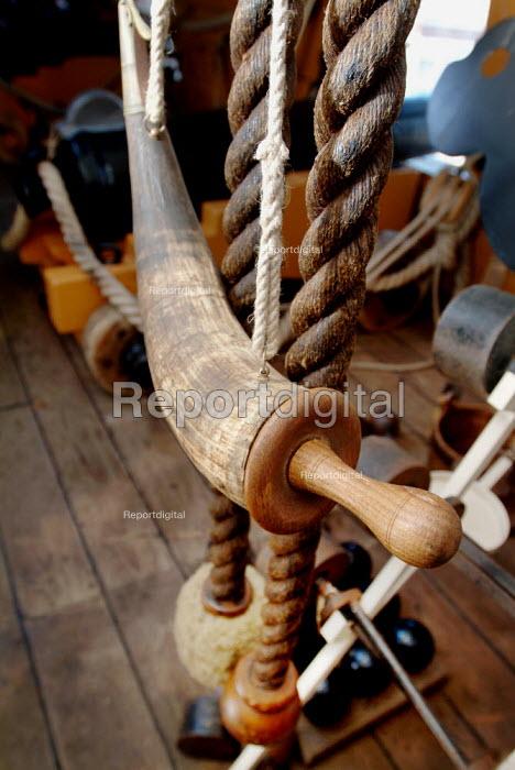 Artefact on the gun deck. HMS Victory, Portsmouth. - Paul Carter - 2003-06-13