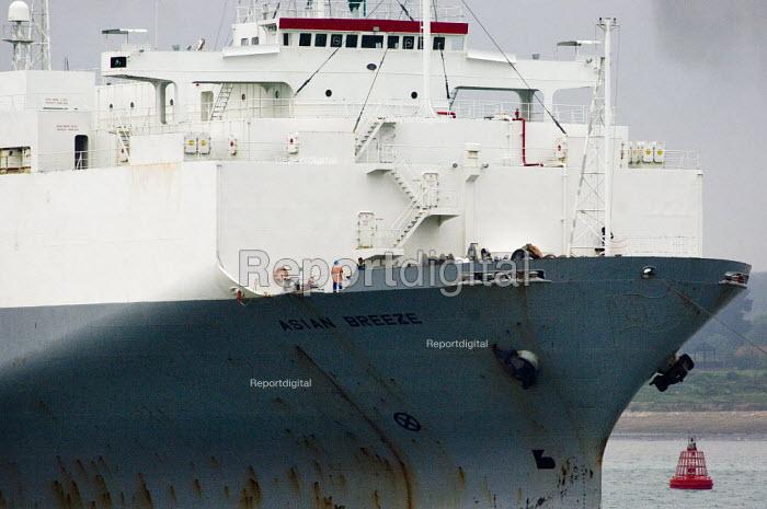UECC car transporter ship entering Southampton harbour docks - Paul Carter - 2006-05-17