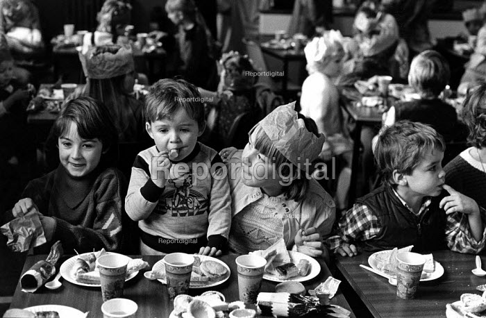 Children enjoying a Christmas party at Frickley colliery... - John Sturrock, JS1310ms050.jpg