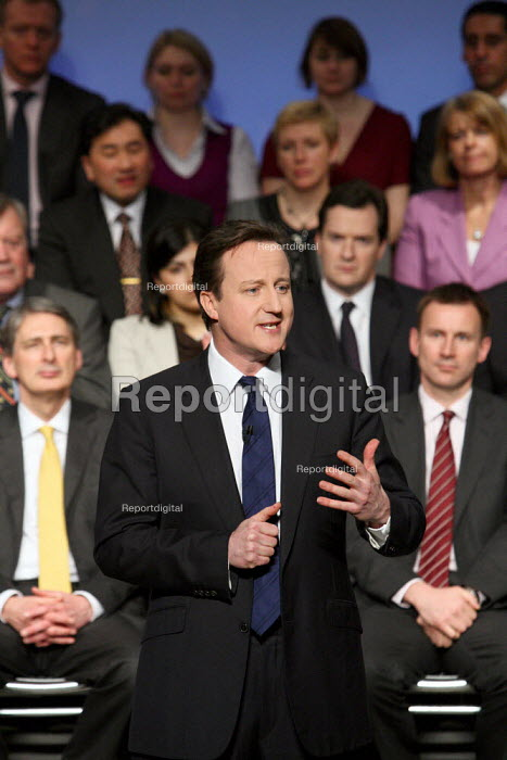Conservative Party leader David Cameron speaking at the... - Justin Tallis, JT1002204.JPG