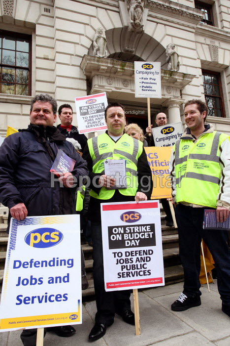 Workers from HM Treasury strike on Budget Day to protect... - Justin Tallis, JT1003192.JPG