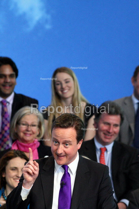 David Cameron speaking at the Conservative Party's... - Justin Tallis, JT1004149.JPG