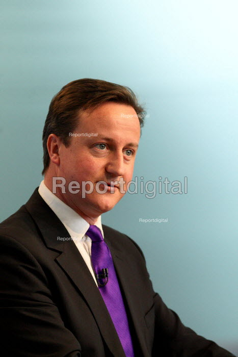 David Cameron speaking at the Conservative Party's... - Justin Tallis, JT1004153.JPG