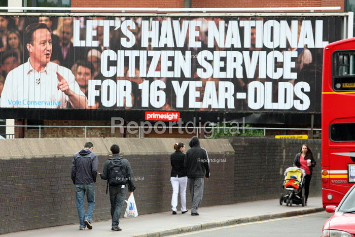 Conservative Party campaign poster on National Citizen... - Justin Tallis, JT1004343.JPG