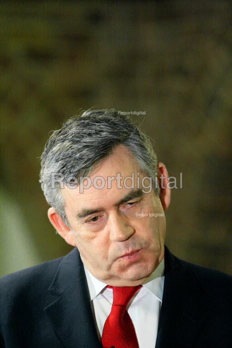 Gordon Brown giving a speech to Labour supporters at a campaign event in South London. - Justin Tallis - 2010-05-02