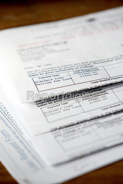 Student Loan payment, financial support application forms. - Justin Tallis, JT101011.JPG