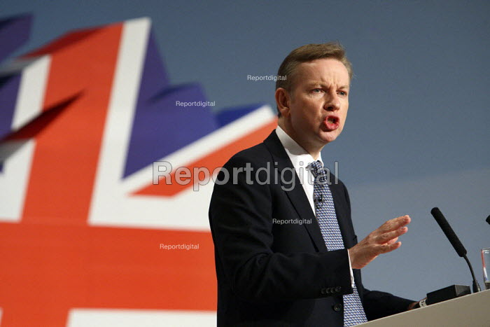 Michael Gove giving his speech at the 2010 Conservative... - Justin Tallis, JT1010C055.JPG