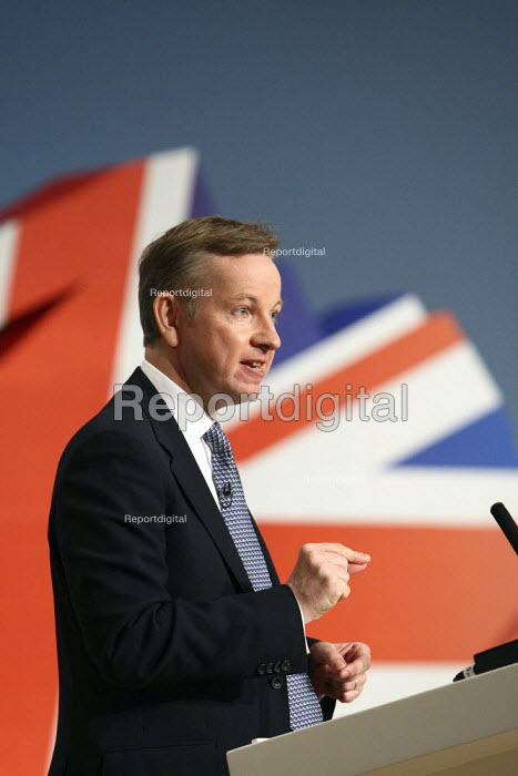 Michael Gove giving his speech at the 2010 Conservative... - Justin Tallis, JT1010C056.JPG