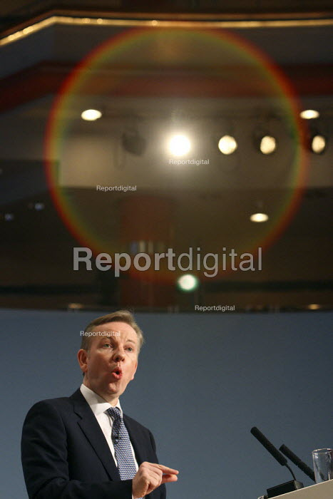 Michael Gove giving his speech at the 2010 Conservative Party Conference, Birmingham. - Justin Tallis - 2010-10-05