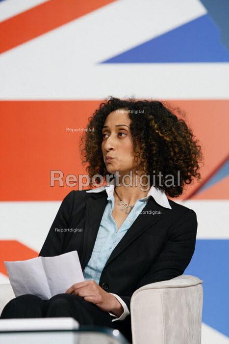 Katharine Birbalsingh, education debate at the 2010 Conservative Party Conference, Birmingham. - Justin Tallis - 2010-10-05